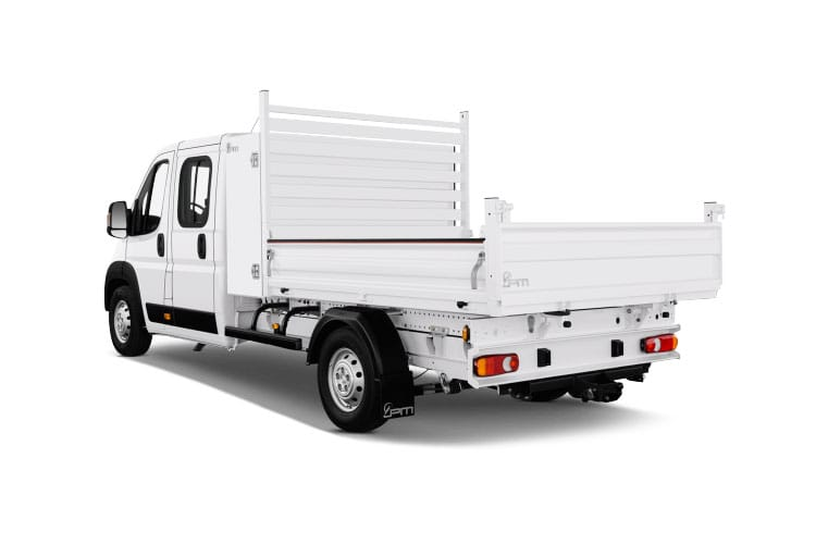 Peugeot Boxer 335 L3 2.2 BlueHDi FWD 165PS Built for Business Plus Tipper Double Cab Manual [Start Stop] back view