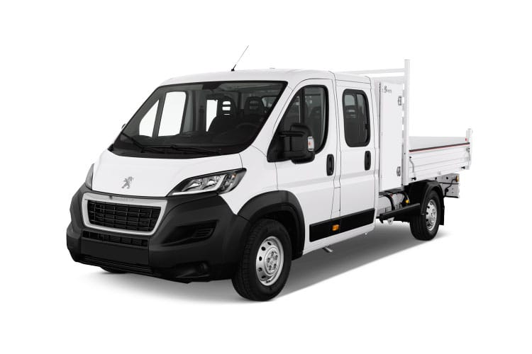 Peugeot Boxer 335 L3 2.2 BlueHDi FWD 165PS Built for Business Plus Tipper Double Cab Manual [Start Stop] front view