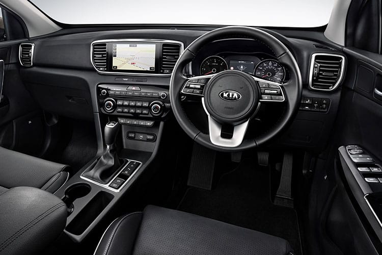 Kia Sportage SUV 2wd 1.6 T-GDI 174PS GT Line 5Dr Manual inside view